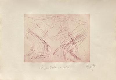 Sauterelles en Colere by Jean Messagier