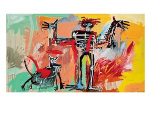 Boy and Dog in a Johnnypump, 1982 by Jean-Michel Basquiat