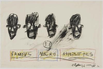 Famous Negro Athletes, 1981 by Jean-Michel Basquiat