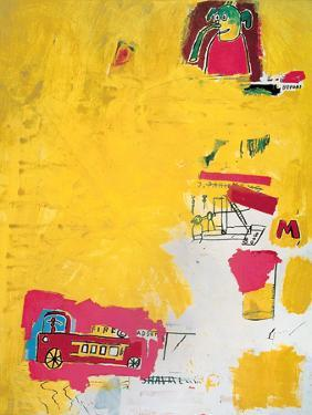 Pink Elephant with Fire Engine, 1984 by Jean-Michel Basquiat
