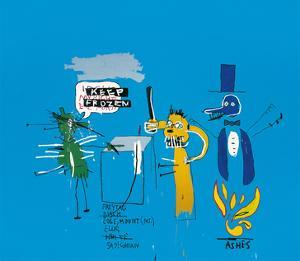 The Dingoes That Park Their Brains with Their Gum, 1988 by Jean-Michel Basquiat