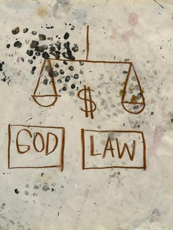 Untitled (God - Law) by Jean-Michel Basquiat