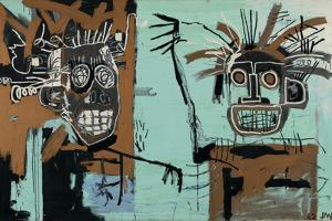 Untitled (Two Heads on Gold) 1982 by Jean-Michel Basquiat