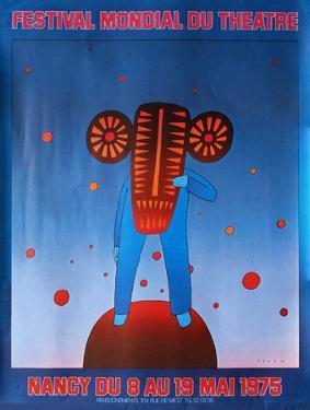 Festival du théâtre Nancy 1975 by Jean Michel Folon