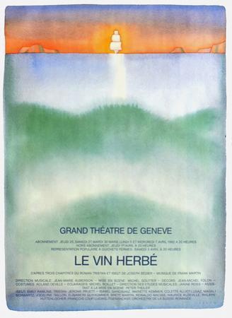 Grand Théatre de Genève by Jean Michel Folon
