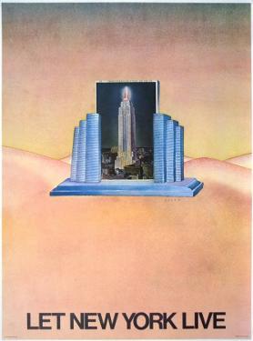 Let New York Live by Jean Michel Folon