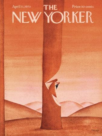 The New Yorker Cover - April 11, 1970 by Jean Michel Folon