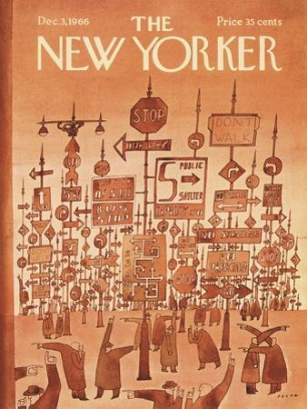 The New Yorker Cover - December 3, 1966 by Jean Michel Folon