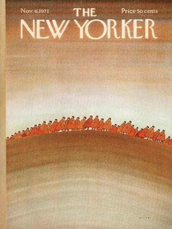 The New Yorker Cover - November 6, 1971 by Jean Michel Folon