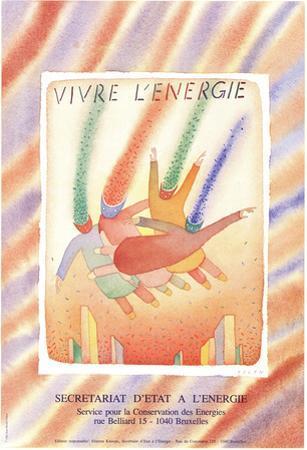 Vivre L'energie by Jean-Michel Folon