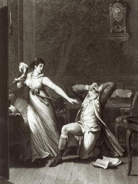 Illustration from The Sorrows of Werther by Johann Wolfgang Goethe by Jean-Michel Moreau the Younger