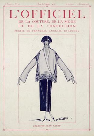 L'Officiel, January-February 1923 - Création Jean Patou by Jean Patou