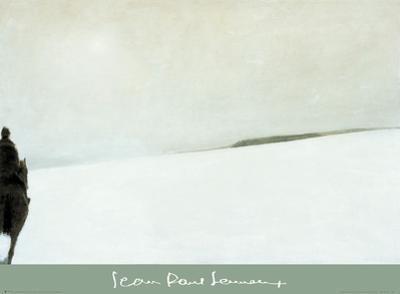 Cavalier dans la neige by Jean-Paul Lemieux