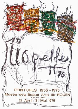 Expo 76 - Musée des Beaux Arts de Rouen by Jean-Paul Riopelle