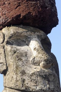 Ahu Tongariki Where 15 Moai Statues Stand with their Backs to the Ocean by Jean-Pierre De Mann