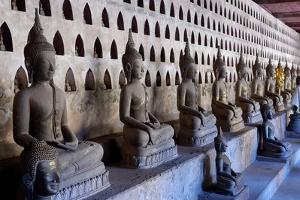 Buddha Statues in the Cloister or Gallery Surrounding the Sim by Jean-Pierre De Mann
