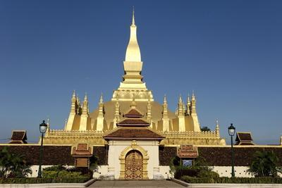 That Luang Stupa, Built in 1566 by King Setthathirat, Vientiane