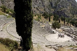 The Ancient Theater, Delphi, UNESCO World Heritage Site, Peloponnese, Greece, Europe by Jean-Pierre De Mann