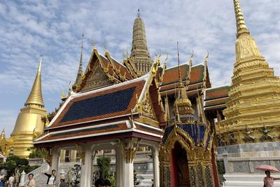The Temple of the Emerald Buddha, Grand Palace, Bangkok, Thailand, Southeast Asia, Asia