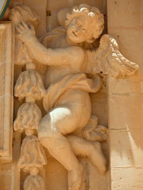Cherub Detail at Church of Gharb by Jean-pierre Lescourret