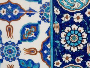 Detail of Tiles in Rustem Pasa Mosque by Jean-pierre Lescourret