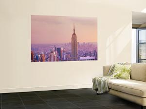 Empire State Building and Manhattan Skyline by Jean-pierre Lescourret
