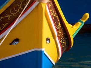 Eye on Luzzu Fishing Boat by Jean-pierre Lescourret