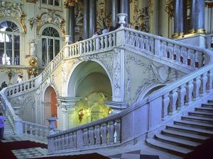 Staircase in the State Hermitage Museum by Jean-pierre Lescourret