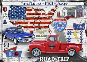 American Highways-Coast to Coast by Jean Plout