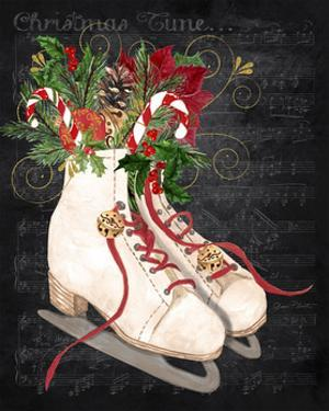 Christmas Time Ice Skates by Jean Plout