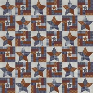 Country Star Quilt 1 by Jean Plout
