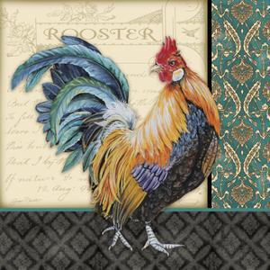 Damask Rooster-A by Jean Plout