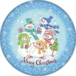 JP3645-Christmas Snowmen by Jean Plout