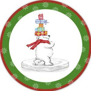 JP3657-Christmas Bear by Jean Plout