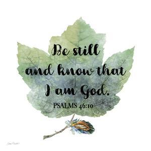 Scripture Leaf-B by Jean Plout