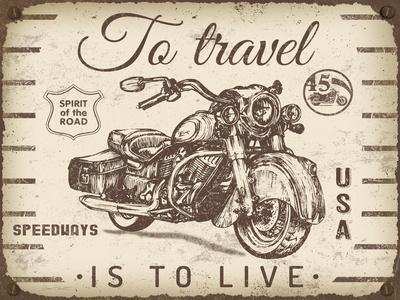 Vintage Motorcycle Mancave-A