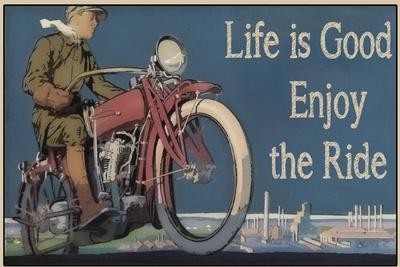 Vintage Motorcycle Mancave-F