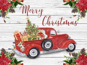 Vintage Red Truck Christmas-A by Jean Plout