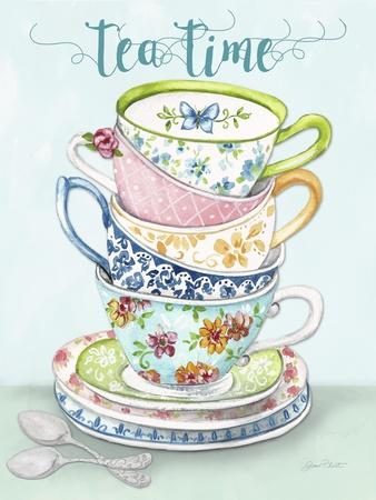 Watercolor Teacups-A