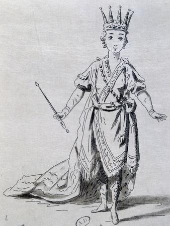 Actress Constance Tessier in Role of Joash in Athalie