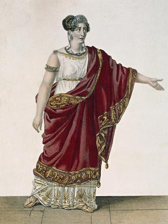 Actress Mademoiselle George in Role of Clytemnestra, Act Four, Scene Three from Iphigenia, 1674
