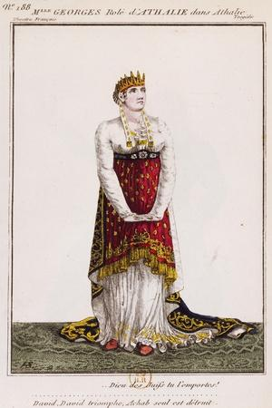 Mademoiselle Georges in Role of Athalie, Illustration for Tragedy Athalie