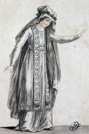 Sketch for Stage Costume for Iphigenia in Tauris