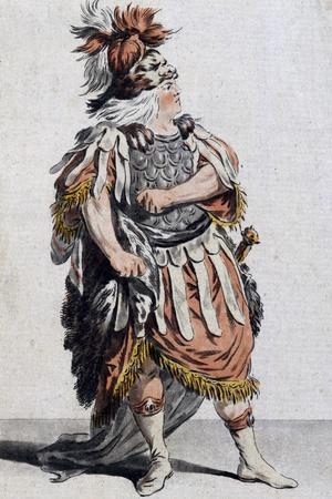 Sketch of Theseus' Costume for Phaedra