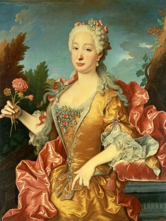 Portrait of Barbara of Portugal, C. 1735 by Jean Ranc