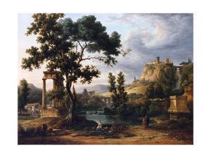 Capriccio Landscape by Jean Victor Bertin