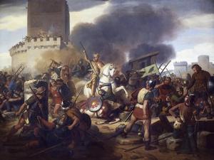 Count Eudes Defending Paris Against Normans in 885 by Jean-Victor Schnetz