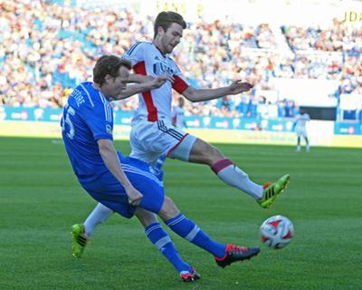 May 31, 2014 - MLS: New England Revolution vs Montreal Impact - Patrick Mullins, Wandrille Lefevre