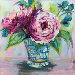 Pink Peonies I by Jeanette Vertentes