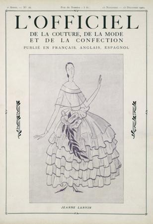L'Officiel, November-December 1922 by Jeanne Lanvin